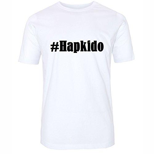 Reifen-Markt Camiseta #Hapkido Hashtag para mujer y hombre en blanco y negro