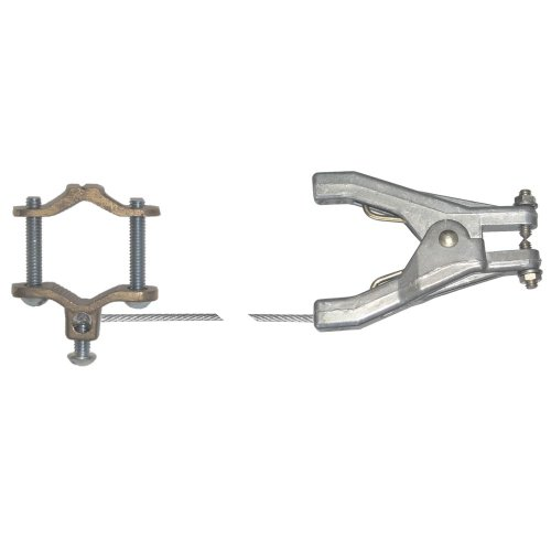 """Lind Equipment LE60HP Static Grounding Assembly, REM Clamp, 1/2""""-1ft Pipe Clamp, 3ft 1/8"""" Plated Steel Cable"""