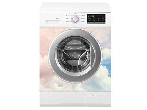 Oedim Waschmaschine farbige Wolken | Verschiedene Maße 70 x 70 cm | Beständiger und leicht aufzutragender Klebstoff | Eleganter Entwurfs-dekorativer klebender Aufkleber