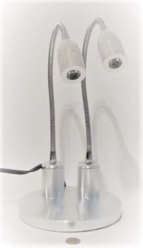 CB Gooseneck Flexible Arm LED Light Lamp Illuminator for Dissecting Microscope, High Intensity Ultra Bright,Silver