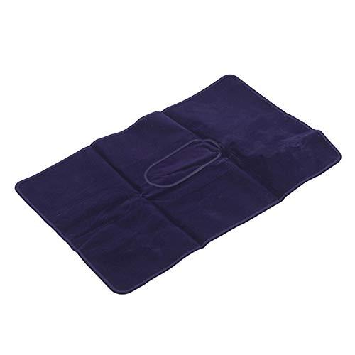 LPOQW Cojín para dormir de color sólido, portátil, ultraligero, inflable, para viajes, senderismo, camping, coche, hogar, oficina, descanso, almohada, color morado oscuro