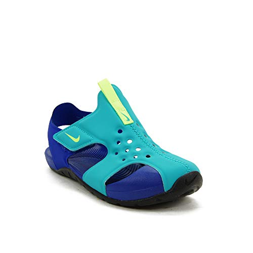Nike Sunray Protect 2 (PS) Kinder Sandalen, Oracle Aqua/Ghost Green-Hyper Blue-Black (Numeric_28)