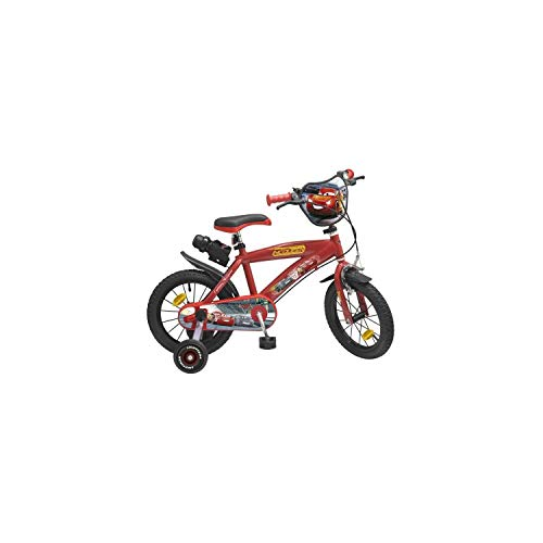 Pik&Roll Cars 3 - Bicicleta Infantil de 14 Pulgadas, Color Rojo