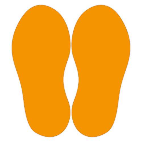 10 unidades de adhesivos para el suelo (20 pegatinas en total), tamaño del pie 250 x 100 mm