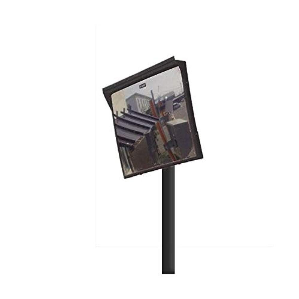 トロイの木馬揮発性ブーストカーブミラー 角型600mm×500mm アクリル製ミラー 支柱セット(道路反射鏡) HPLA-角5060SP(ブラック)