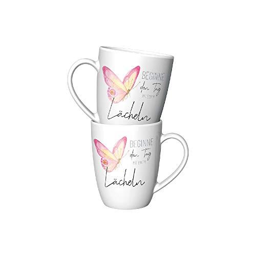 La Vida Kaffeebecher Beginne den Tag mit einem Lächeln 250ml (1 Stück)