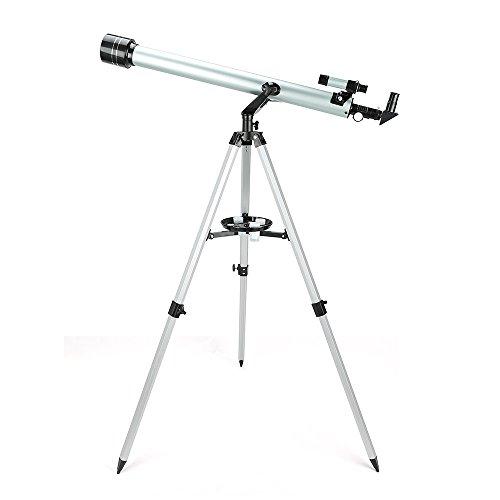 Télescope Astronomique Monoculaire Ultra HD 60/900mm Extérieur avec Trépied en Alliage D'aluminium Espace Réfracteur Astronomique - Uverbon
