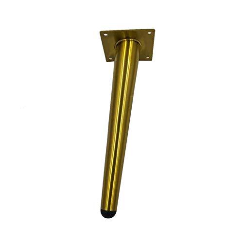 N/A Gabinetes de salón antideslizantes DIY pies de apoyo de acero inoxidable para baño, sofá, muebles, muebles, pies de mesa, accesorios XQ-1.20 (color: patas oblicuas de 20 cm)