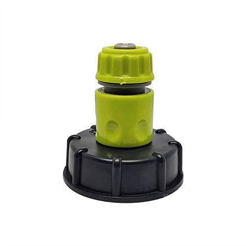 Adaptador de Tubo de Manguera de Agua de Cierre de la válvula de Cierre, Conector rápido/Material plástico Válvula de tonelada IBC para barriles de Lluvia, Tanques de Agua, tinas