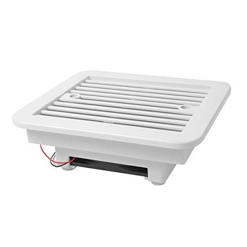 Ventilador de exaustão Ventilador de exaustão de resfriamento à prova d'água 12V/24V Rv Trailer Caravana Lado Ventilador de ar Ventilação Lâmina Ventilador Branco 1 Conjunto - Branco 12V One-way Mute 205X185X70Mm