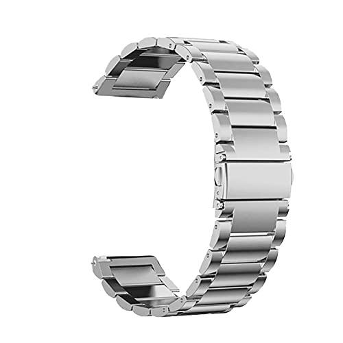 SSXPNJALQ 18mm 22mm 20 mm Banda Correa Adecuada for Samsung Galaxy Watch 3 42 46mm Gear S3 Active2 Acero for Huawei GT 2 XIAOMI AHORMFIT BIP GTR 2