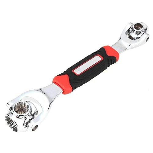 IWDF Neue Universal-360-Grad-48 in 1 Werkzeugen Sockel Stahl Tiger Schlüssel mit Spline Schrauben Torx 6-Punkt-Möbel Auto-Reparatur Handwerkzeug (Color : Red)
