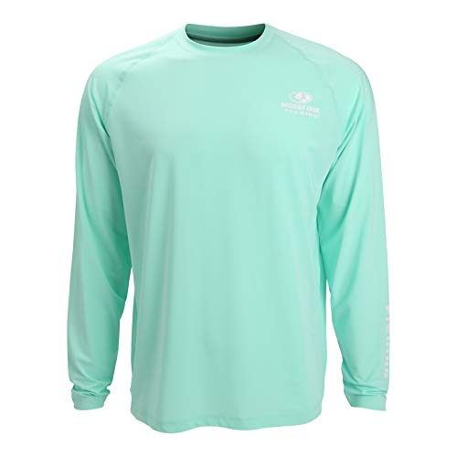 EAG Elite Mossy Oak Long Sleeve Solid Performance Fishing Shirt (Large, Seafoam)