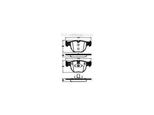 Triscan 8110 17022 Kit de plaquettes de frein, frein à disque