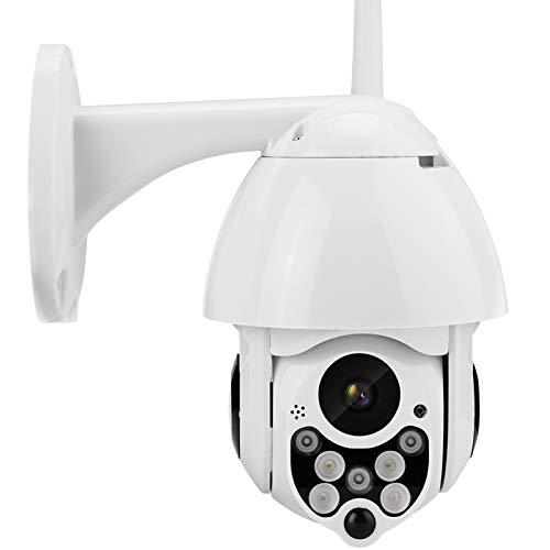 Cámara de Seguridad WiFi Exterior, 1080P PTZ Camara de Vigilancia Exterior, Cámara Domo con Audio de Dos Vías, Visión Nocturna 40M, Detección de Movimiento, Notificación de Alarma, IP66