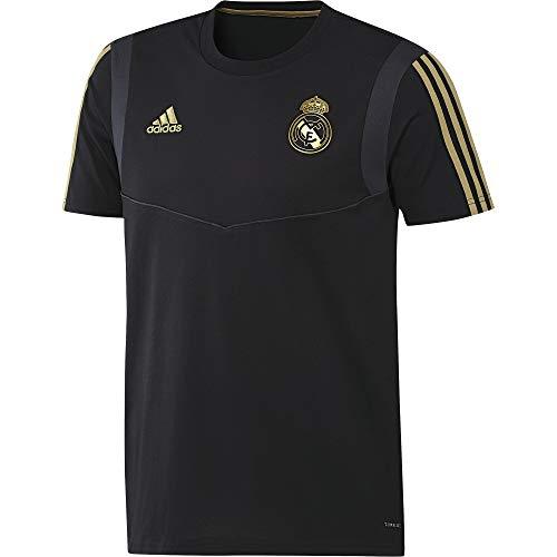 adidas Real tee Camiseta, Hombre, Negro/Orfúos, 2XL