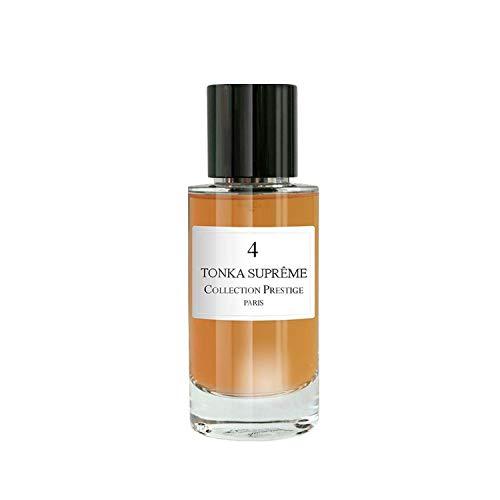 N°4 Tonka Supreme | Fève- Collection Prestige edition Rose Paris - Eau de Parfum Haut de Gamme - Made in France + Pochon Rose Paris