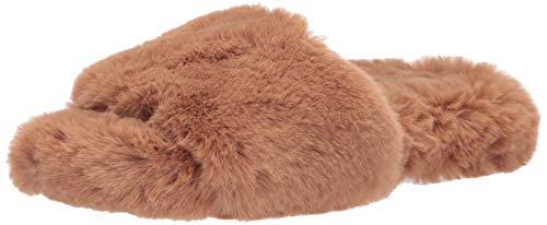 The Drop Women's Marina Faux Fur Cottage Slipper, Doe Tan, 12