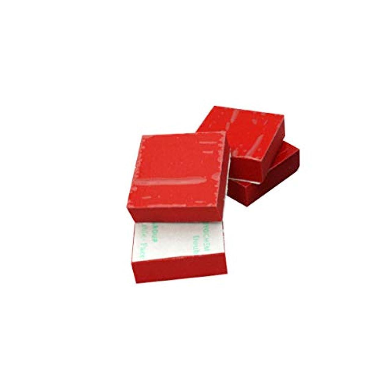 いたずら注入する行PRO CABLE CSRB1-RD3-4 (レッド) インシュレーター オーディオ用 ソルボセイン 3cm角 1cm厚 【4枚セット 粘着テープあり 赤色】 プロケーブル