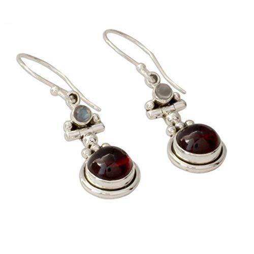 Ogquaton Pendientes largos y duraderos de cristal rojo cuelgan pendientes Pendientes de gancho Regalos de joyería