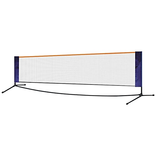 DFNESNN Portable Badminton Net Set for Tennis, Soccer Tennis, Pickleball, Kids Volleyball Easy to Install Nylon Sports Net with Poles Indoor Outdoor Courts Beaches Driveways (Size : 6.11.55m)
