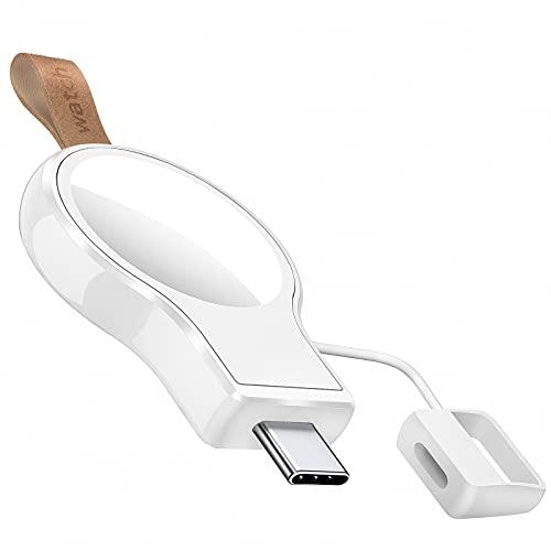 NEWDERY Cargador USB-C para Apple Watch, Cargador magnético portátil, Cargador inalámbrico de viaje con carga rápida inalámbrica ligera para Apple Watch Series SE 6 5 4 3 2 1