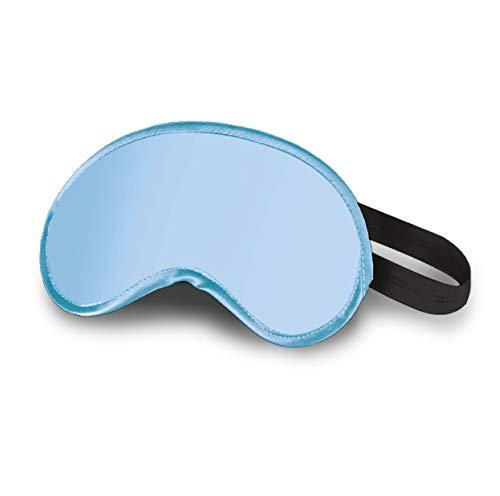 FLOWZOOM Schlafmaske Kinder | Augenmaske Kinder für Mädchen & Jungen (Farbe: Hellblau)