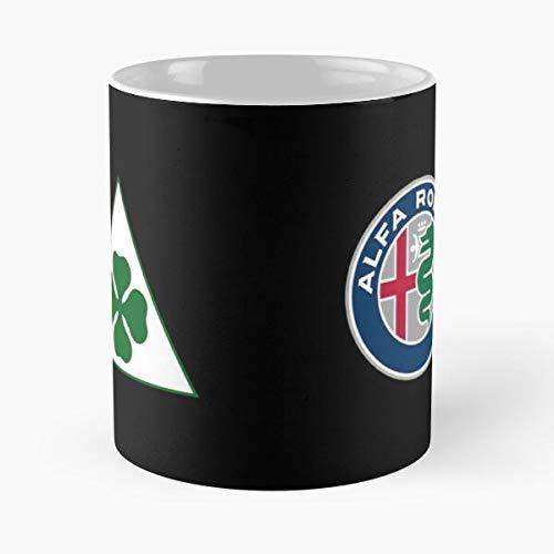 GrimDC Alfa Quadrifoglio Romeo Taza de café con Leche 11 oz