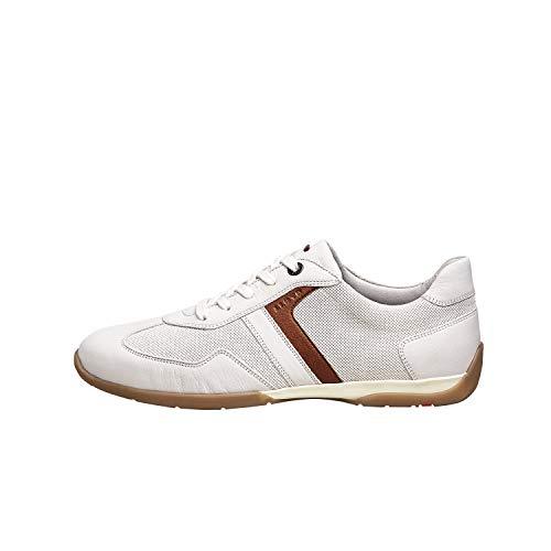 LLOYD Herren Sneaker BORGARD, Männer Low-Top Sneaker,lose Einlage,Freizeit,maennlich,Men's,Man,Halbschuh,Business,White/Bianco/Malt,44 EU / 9.5 UK