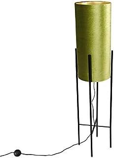 Qazqa Lampadaire   Lampe sur pied Moderne - Rich Lampe Vert Noir - E27 - Convient pour LED - 1 x 40 Watt