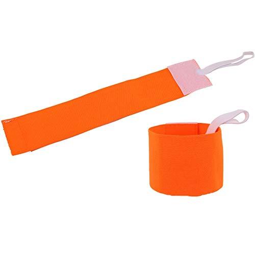 DYSCN Teamspiel Team Armbinde Klettelastisches Design Anti-Fall-Abdeckung Verschiedene Sportanzüge, Orange