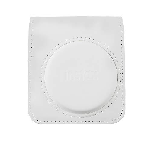 Fujifilm Funda instax Mini 70 White Polipiel Funda Original INSTAX para cámara Mini 70 - Color Blanco BlancoMINI
