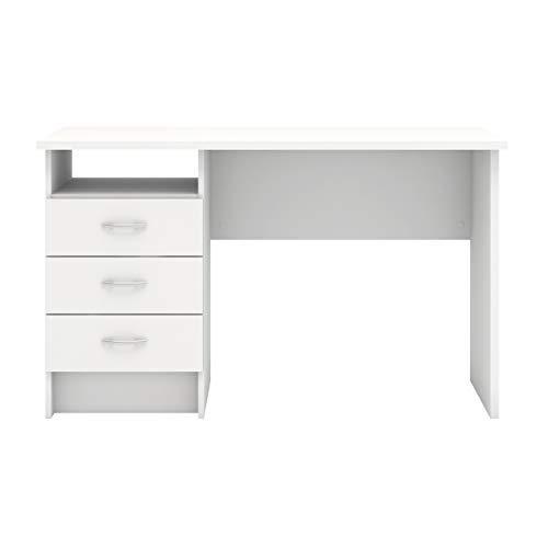 Tvilum Whitman Desk with 3 Drawers, White