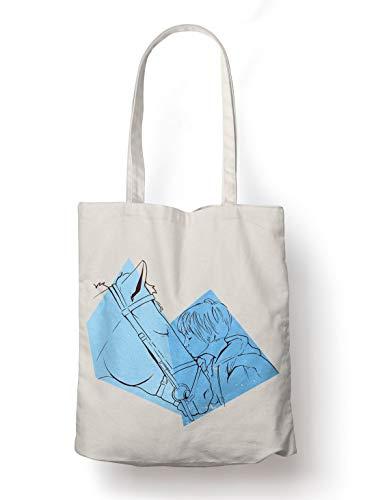 BLAK TEE Horse Love Organic Cotton Reusable Shopping Bag Natural