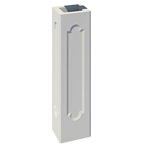 TRAX Beton Pfeiler Schaft für Zaunpfeiler 1020 Pfeiler mit 2 Spiegel/eckig/gegenüber L x B x H: 45 x 45 x 150 cm