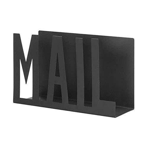 revistero Escritorio Hierro Correo Carta Carta Hogar Dormitorio Oficina Oficina Oficina Organizador Archivo Book Rack Mail Sorter y File Folder Organizer Rack Revistero archivador ( Color : A )