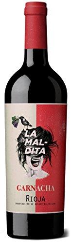 Rioja tinto'LA MALDITA' GARNACHA calificado como mejor vino joven calidad precio.(varios pack) 75cl. Envío GRATIS 24h. (pack 2 unidades)