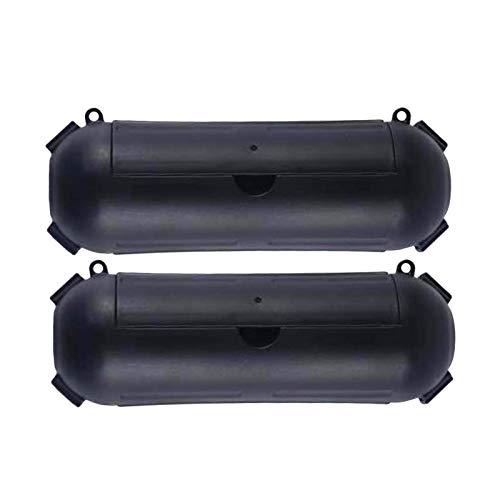PUTAOYOU Caja de Cable de extensión Impermeable al Aire Libre de 2 PCS, Cable a Prueba de Intemperie Caja ordenada para Piscina Exterior y Piscina Interior Bomba de Agua Fuente (Color : Black)
