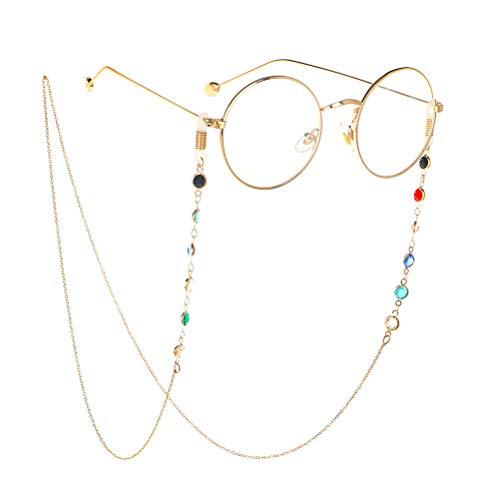 FENICAL Cordino per occhiali da vista Cinturino per occhiali da sole Cinturino per occhiali Supporto per cordino per donna Dorato