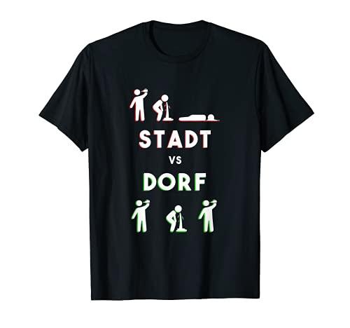 Regalo de pueblo de fiesta, ciudad de Vs pueblo campestre, Suff Camiseta