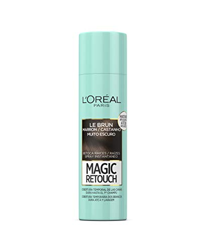 LOreal Paris Magic Retouch Spray Retoca Raí­ces y Canas, Tono Castaño Oscuro - 150 ml
