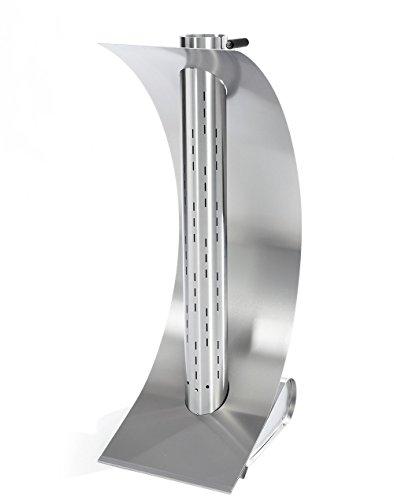 feuersegel Edle Design-Feuerstelle für Garten und Terrasse - Moderner Terrassenofen aus hochwertigem Edelstahl, 42 x 34 x 96 cm