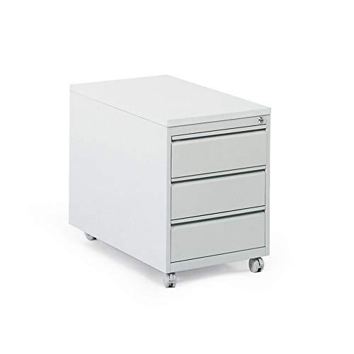 BULTO Rollcontainer Schubladenschrank, Stahl - BxTxH 460 x 790 x 610 mm - 3 Schubladen