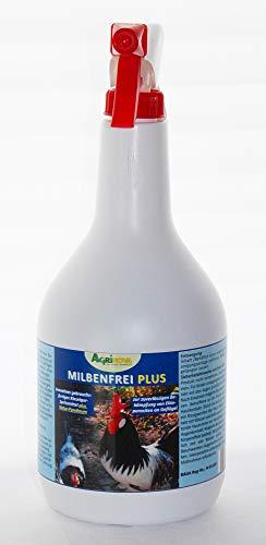 Agrinova Milbenfrei Plus Flüssig: 1Liter Sprühflasche gebrauchsfertig Innovatives flüssiges Kieselgur-Konzentrat Plus Natur-Pyrethrum