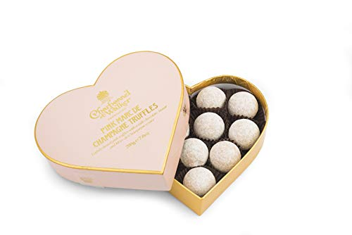 Charbonnel et Walker Pink Marc de Champagne Truffles (Heart Shaped Box), 200 g