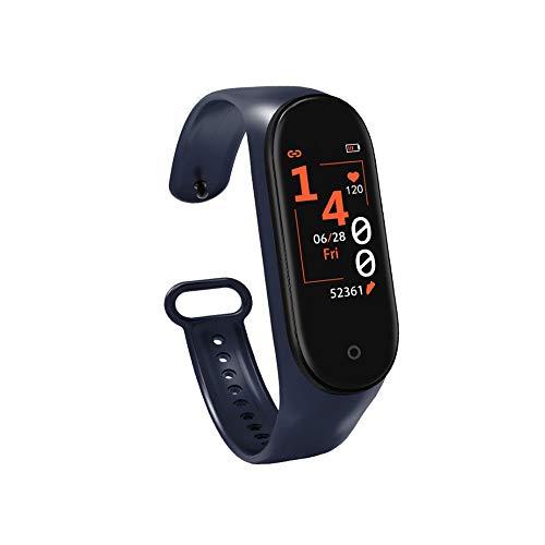 AIOEJP Promoción de precio reducido M4 Pulsera inteligente Frecuencia cardíaca Monitoreo de la salud del sueño Pulsera inteligente Unisex Fitness Deportes Reloj impermeable Recordatorio de mensaje Pul