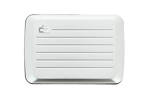 Ögon Smart Wallets - Stockholm V2 Cartera Tarjetero - Protección RFID: Protege Tus Tarjetas de Robar - hasta 10 Tarjetas + Recetas + Notas - Aluminio anodizado (Silver)