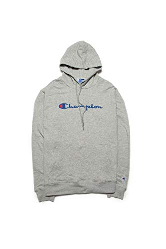 Champion Classic Embroidery Logo Jersey Leisure Hoodies for Unisex Adult XL Grey