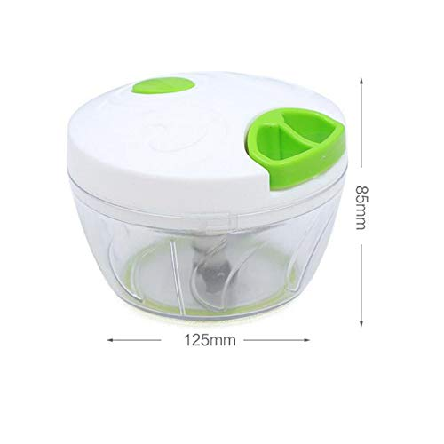 QWERTB Snelle Chopper Handmatige Voedsel Processors Vlees Groente Handmatige Slicers Plastic Mincer Keuken Gereedschap (Kleur : Groen)