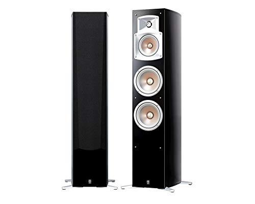 Yamaha NS 555 Stand Lautsprecher System (3-Wege Bassreflex, Waveguidehorn, 100W) klavierlackschwarz, 1 Stück